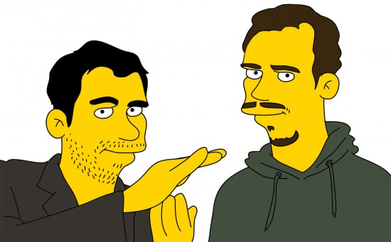Simpsonized Neville and Noah